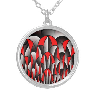 Sharp edges silver plated necklace