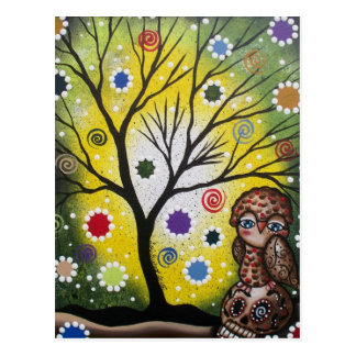 Sharp Eye_ By Lori Everett_ Day Of The Dead, Owl Postcard