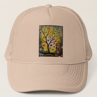 Sharp Eye_ By Lori Everett_ Day Of The Dead, Owl Trucker Hat