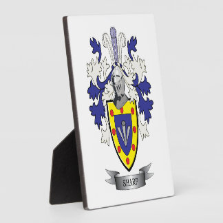 Sharp Family Crest Coat of Arms Plaque