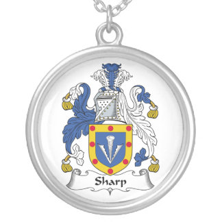 Sharp Family Crest Personalized Necklace
