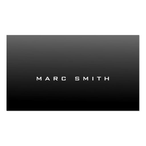 Sharp-Looking Black Business Card