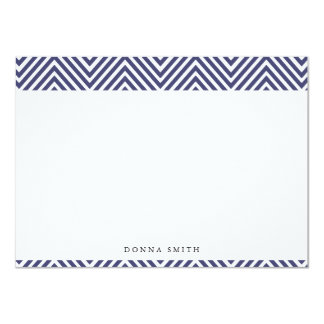 Sharp Navy Chevron Flat Note Cards