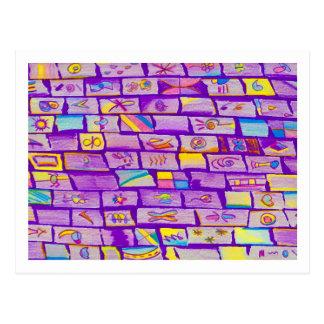 Sharp Purple Bricks Postcard