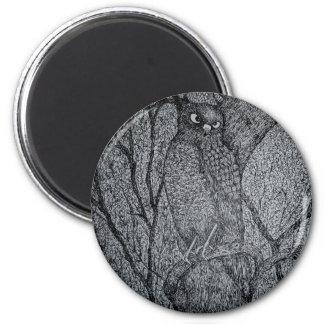 Sharp Shinned Hawk 2 Inch Round Magnet