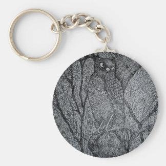 Sharp Shinned Hawk Basic Round Button Keychain