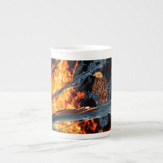 Sharp Shinned Hawk Fire and Ice. (0112) Tea Cup