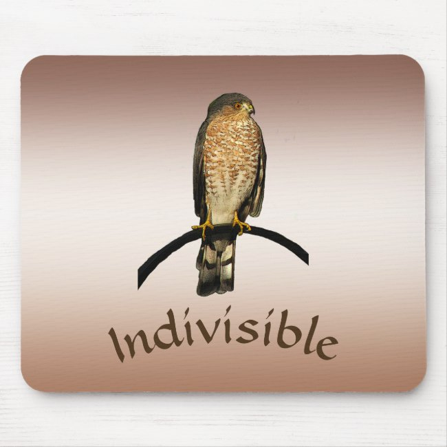 Sharp Shinned Hawk Indivisible Brown Mousepad