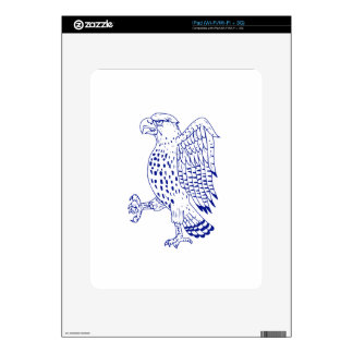 Sharp-shinned Hawk Marching Drawing Decal For iPad