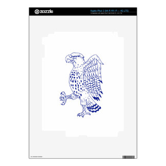 Sharp-shinned Hawk Marching Drawing Decal For iPad 3
