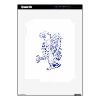 Sharp-shinned Hawk Marching Drawing iPad 2 Decals