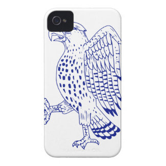 Sharp-shinned Hawk Marching Drawing iPhone 4 Case-Mate Case