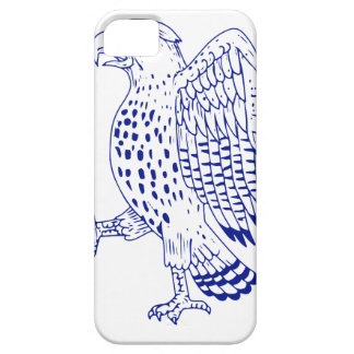 Sharp-shinned Hawk Marching Drawing iPhone SE/5/5s Case