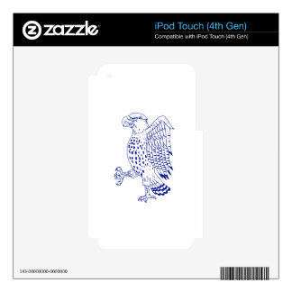 Sharp-shinned Hawk Marching Drawing iPod Touch 4G Skin