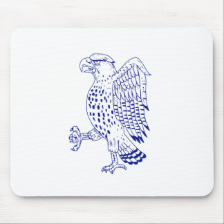 Sharp-shinned Hawk Marching Drawing Mouse Pad