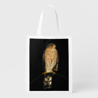 Sharp-Shinned Hawk Reusable Grocery Bag