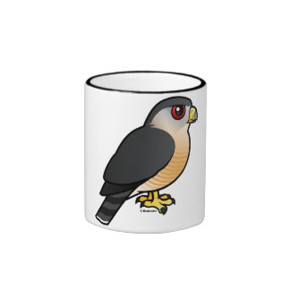 Sharp-shinned Hawk Ringer Coffee Mug