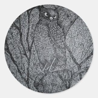 Sharp Shinned Hawk Round Sticker