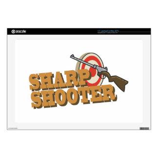 """Sharp Shooter 17"""" Laptop Decals"""