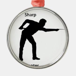 Sharp shooter metal ornament