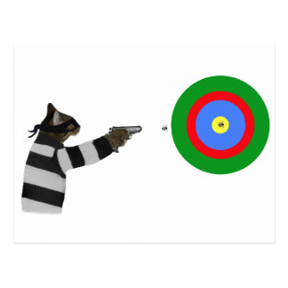 Sharp Shooting Tom Cat Postcard