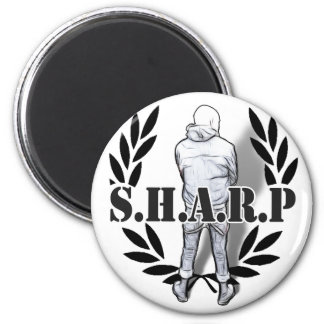 sharp skin standing 2 inch round magnet