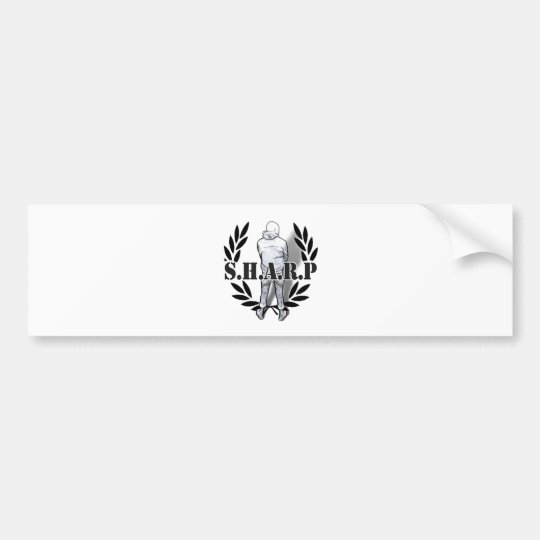 sharp skin standing bumper sticker