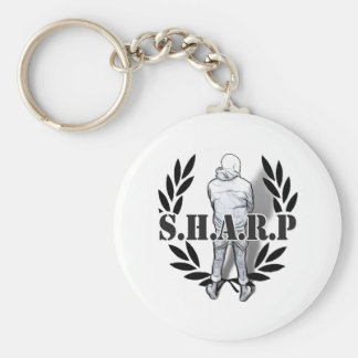 sharp skin standing keychain