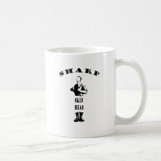sharp skinhead classic white coffee mug