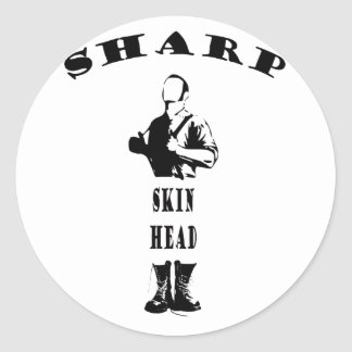 sharp skinhead sticker