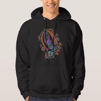 Sharp skull logo hoodie