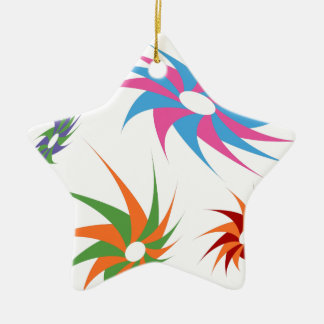 Sharp Spinning Star Pattern Double-Sided Star Ceramic Christmas Ornament