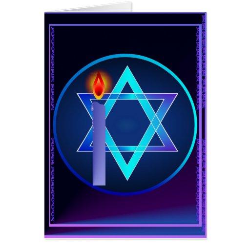 Sharp Star Of David - Light Card