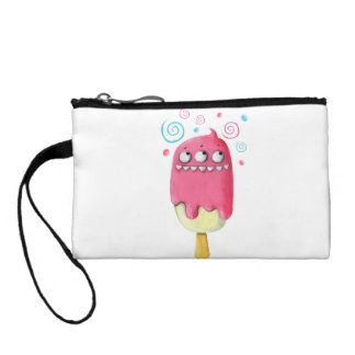 Sharp Teeth Monster Ice Cream Popsicle Coin Wallets