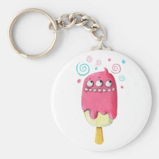 Sharp Teeth Monster Ice Cream Popsicle Keychains