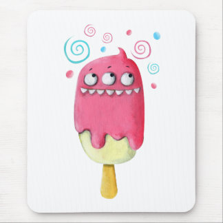 Sharp Teeth Monster Ice Cream Popsicle Mouse Pad