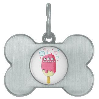 Sharp Teeth Monster Ice Cream Popsicle Pet ID Tag