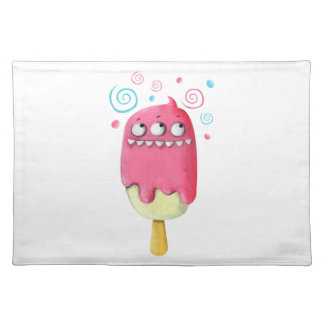 Sharp Teeth Monster Ice Cream Popsicle Placemats