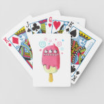 Sharp Teeth Monster Ice Cream Popsicle Playing Cards