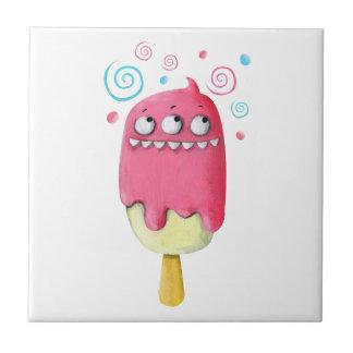 Sharp Teeth Monster Ice Cream Popsicle Tiles
