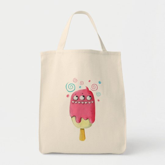 Sharp Teeth Monster Ice Cream Popsicle Tote Bag