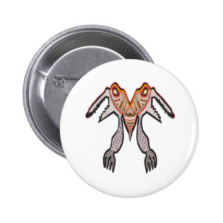 Sharp Teeth Two mouthed TARABORA Alien 2 Inch Round Button