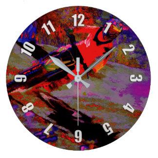 """""""Sharp Turn"""" Motocross Racer Large Clock"""