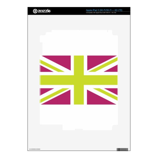 Sharpe Purple Union Jack British(UK) Flag Decal For iPad 3