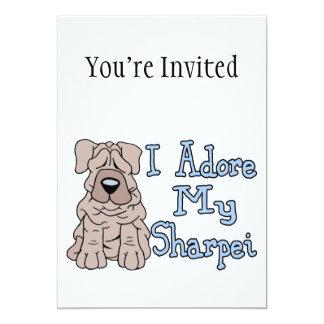 Sharpei Adoration 5x7 Paper Invitation Card