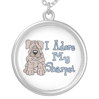 Sharpei Adoration Silver Plated Necklace