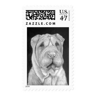 Sharpei Postage Stamp