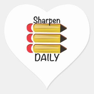 Sharpen Daily Heart Sticker