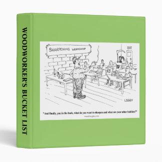 Sharpening Workshop Cartoon Binder