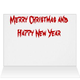 Sharpie Christmas Greeting Card